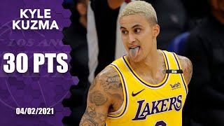 Kyle kuzma puts up 30 points in lakers' win vs. kings [highlights] | nba on espn