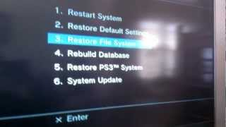 How to Restore PS3 File System | Recovery Menu | Safe Menu