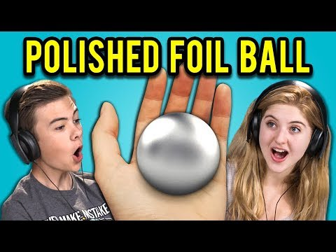 TEENS REACT TO MIRROR-POLISHED JAPANESE FOIL BALL CHALLENGE