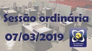 Sessão ordinária 07/03/2019 - Semana da Mulher