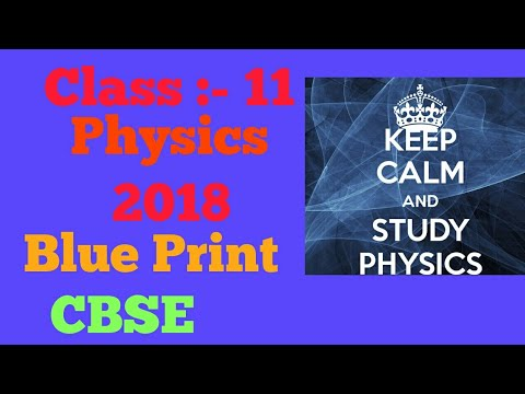 Class 11 blue print of physics 2018 for central board secondary class 11 blue print of physics 2018 for central board secondary education cbse students malvernweather Image collections