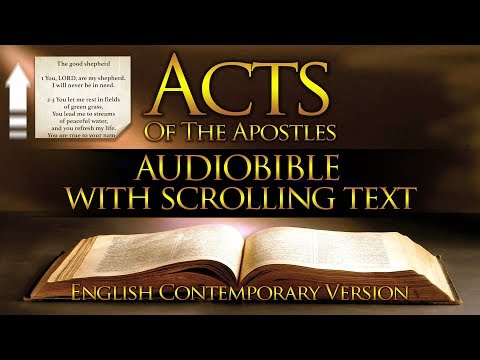 Holy Bible: ACTS OF THE APOSTLES | Contemporary English (FULL) With Scrolling Text