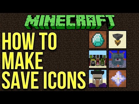 Minecraft 1.10: How To Make Custom World Save Icons Tutorial