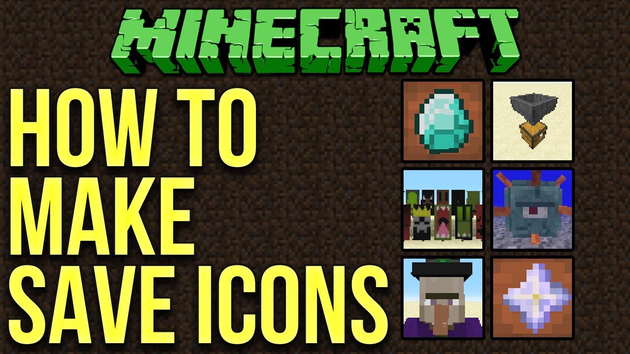 Minecraft 1 10: How To Make Custom World Save Icons Tutorial
