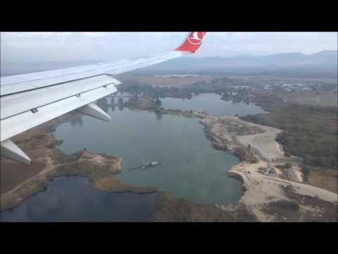 Bulgaria: Landing at Sofia Airport by Turkish Airlines ブルガリア:ソフィア空港への着陸