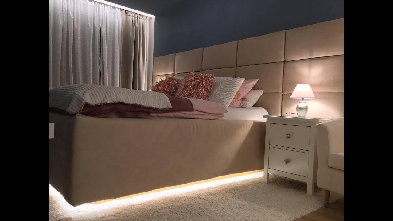 bett selber bauen europaletten schlafzimmer master bedroom youtube. Black Bedroom Furniture Sets. Home Design Ideas