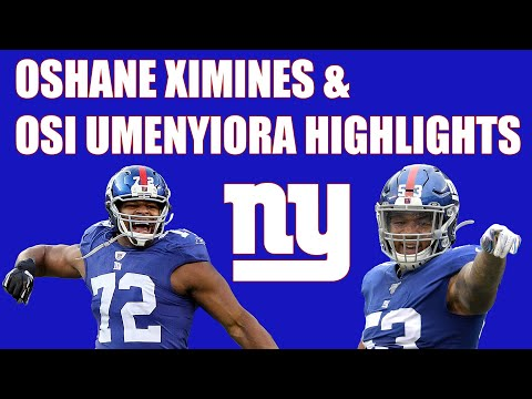 Oshane Ximines & Osi Umenyiora Highlights