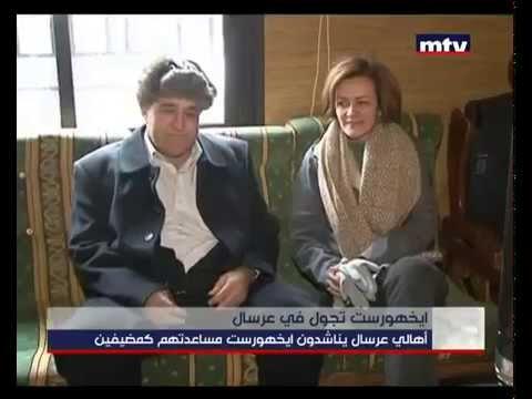 Angelina Eichhorst tour in Arsal with Lebanese for Refugees - MTVLebanon News