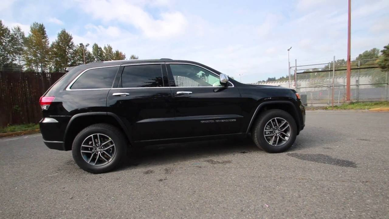 2017 Jeep Grand Cherokee Limited Diamond Black Crystal Pearlcoat Hc630817 Redmond Seattle