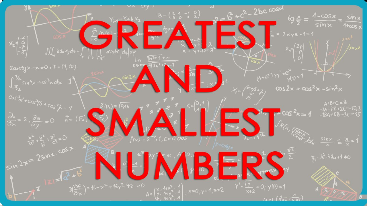 5 Make the greatest and the smallest 4 digit numbers, using any four  different digits with given