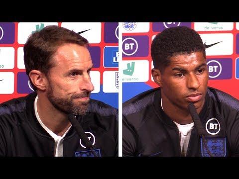 Gareth Southgate & Marcus Rashford Pre-Match Presser - England v Bulgaria - Euro 2020 Qualifiers