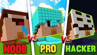 Minecraft NOOB VS PRO VS HACKER- Ukryta Baza W Skinie!