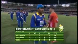 Commonwealth Bank Series Match 8 India vs Sri Lanka - Highlights