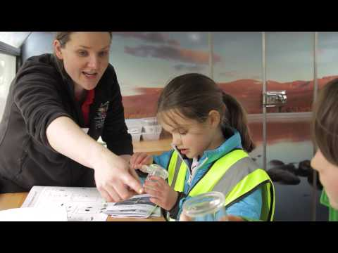 RZSS Wild about Scotland Bus in Action - supported by Clydesdale Bank