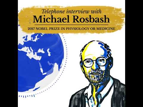 """My wife said, """"Start breathing."""" Interview with Michael Rosbash 2017 Nobel Laureate"""