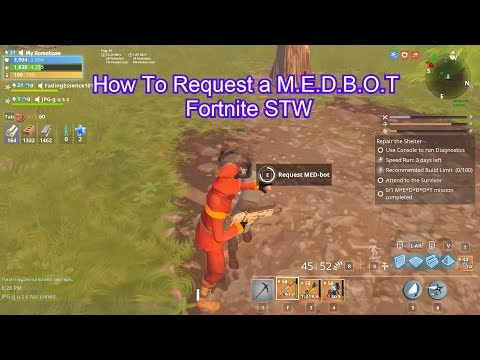 Clear Mission Guide How To Request A M.E.D.B.O.T Fortnite Save The World  Plankerton Quest