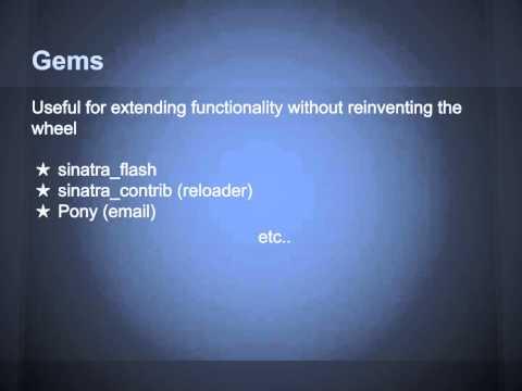 Sinatra - Classy Web Development in Ruby