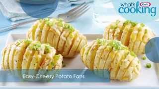 Easy Cheesy Potato Fans Recipe