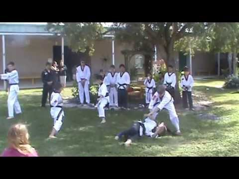 Yum;s Karate Demonstration 11-01-14 Kinnan Elementary School