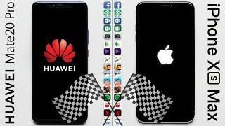 Huawei Mate 20 Pro vs. iPhone XS Max Speed Test
