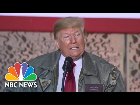 President Donald Trump From Iraq: 'I Had Concerns For The Institution Of The Presidency' | NBC News