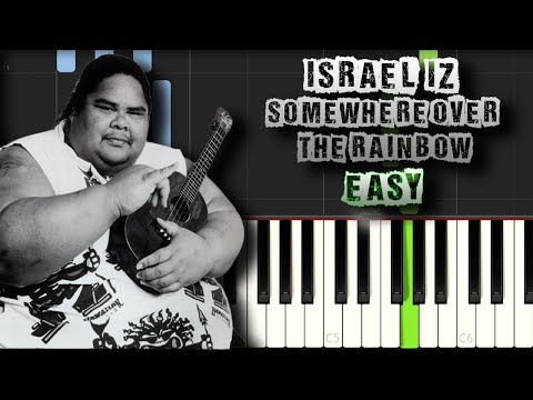 Israel IZ Kamakawiwoole  Somewhere over the Rainbow EASY Piano Tutorial Synthesia Download MIDI