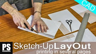 Layout SketchUp/Printing in Several Pages