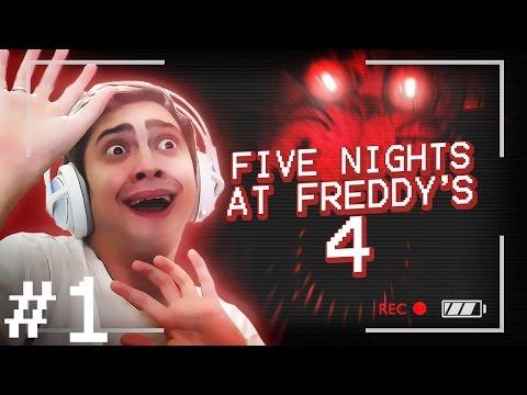 AINDA VOU MORRER DO CORAÇÃO! - FIVE NIGHTS AT FREDDY'S 4 (NOITE 1)