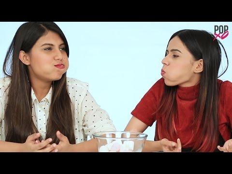 Chubby Bunny Challenge | Komal And Cherry Take On The Chubby Bunny Challenge - POPxo