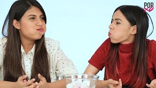 Chubby Bunny Challenge | Komal And Cherry Take On The Chubby Bunny Challenge - POPxo