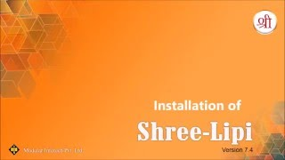 Installation of Shree-Lipi 7.4
