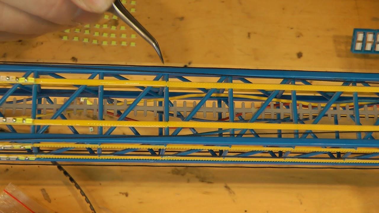 Faller Kirmes Modellbahn Power Tower Anleitung Beleuchtung Mit Ledsteil 2 Youtube