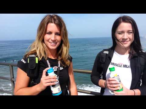 Muscle Milk Spokesmodels Tara & Linde...Free Samples in HB