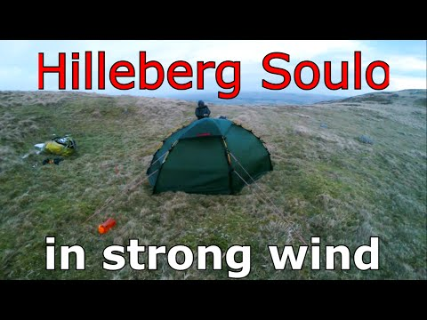 Hilleberg Soulo in strong wind.
