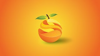 Illustrator Tutorial | Orange 3D Logo Graphic Design