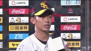 ホークス・今宮選手・山田投手のヒーローインタビュー動画。 2017/06/11...