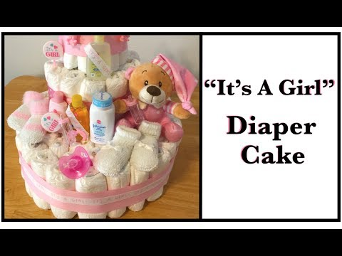 How to Make a Diaper Cake for Your Next Baby Shower ||