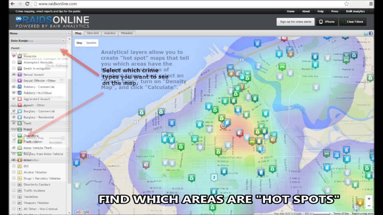 Lorain Police Department Public Crime Mapping YouTube
