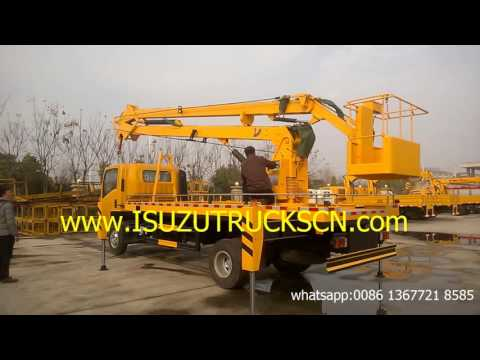 overhead working truck Isuzu bucket crane trucks