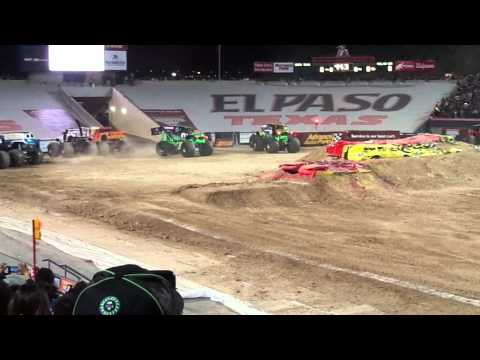 Two Grave Diggers Freestyle! (Monster Jam El Paso TX March 2013)