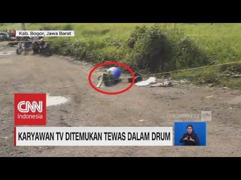 Karyawan TV Ditemukan Tewas dalam Drum