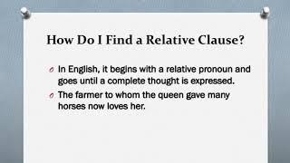 Using Relative Pronouns Part 3