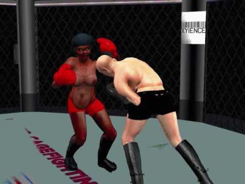 Japanese Mixed Boxing Femdom Scene