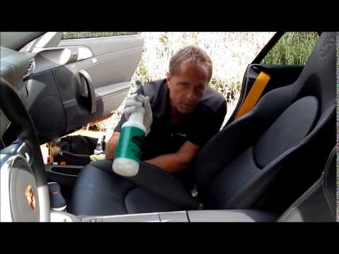Car leather cleaning: New auto leather cleaning- Porsche Turbo S