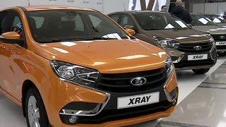 видео Воскресный старт продаж кроссовера Lada XRay от АвтоВАЗа
