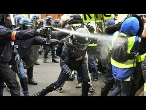 همجية الشرطة الفرنسية. أعتداء على معوق