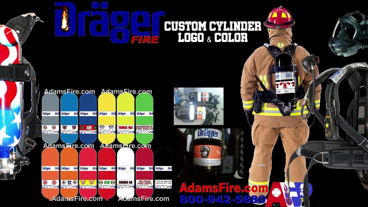Draeger SCBA Custom Cylinder Color and logo options