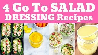 4 Go To SALAD DRESSING Recipes | Paleo Diet Solution