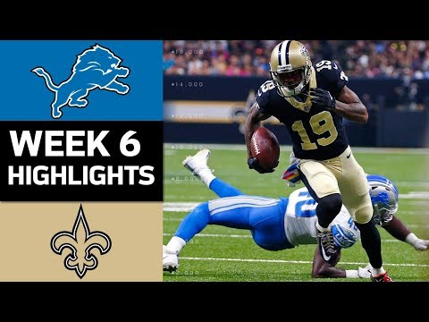 Lions vs. Saints | NFL Week 6 Game Highlights