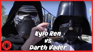 Little Heroes Kylo Ren vs Darth Vader SuperHeroes in Real Life STAR WARS 7 Fight | SuperHero Kids